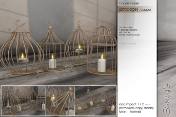 Sway's [Birdcage]Candleholder copper
