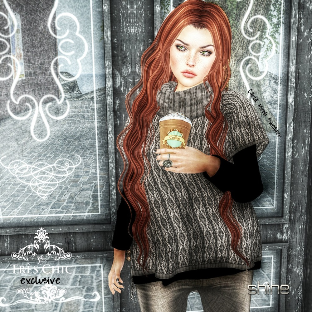 shine by [ZD] CARLA MESH SWEATER - tres chic 2-16