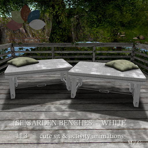 [sf] garden benches - white ad