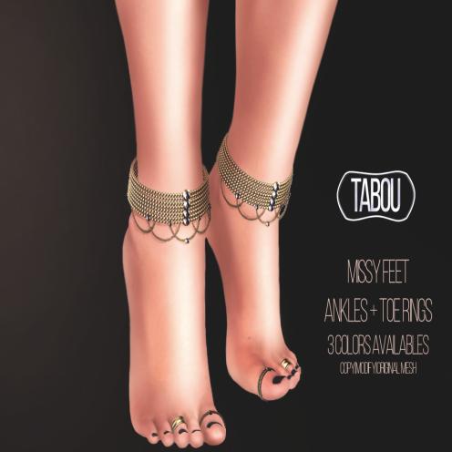 TABOU. missy feet AD