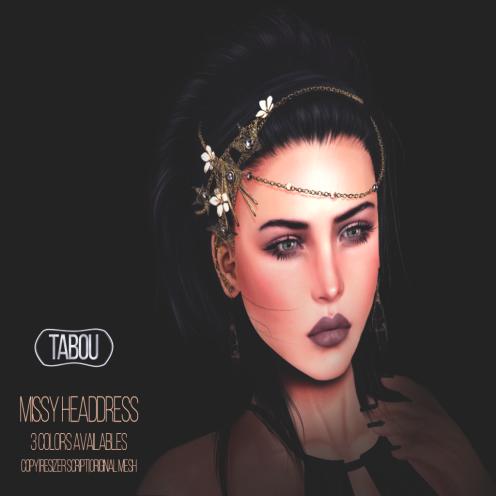 TABOU.Missy headdress AD